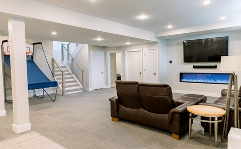 finished basement in willoughby