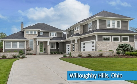 new home construction in Willoughby Hills