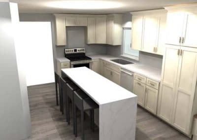 Kitchen and half bath remodel in Mentor 2