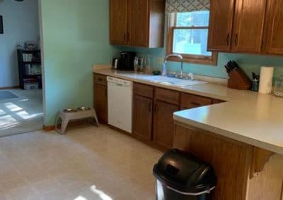 Kitchen and half bath remodel in Mentor BEFORE 1