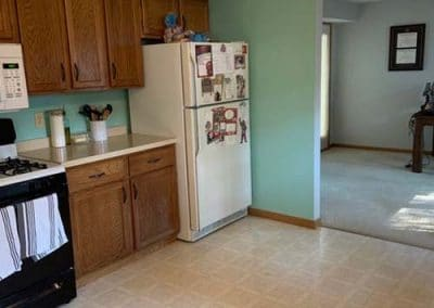 Kitchen and half bath remodel in Mentor BEFORE 2